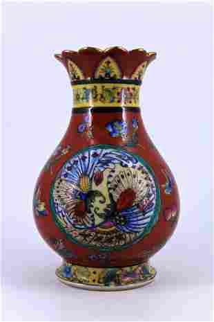 Famille Rose Porcelain Vase Qing Period