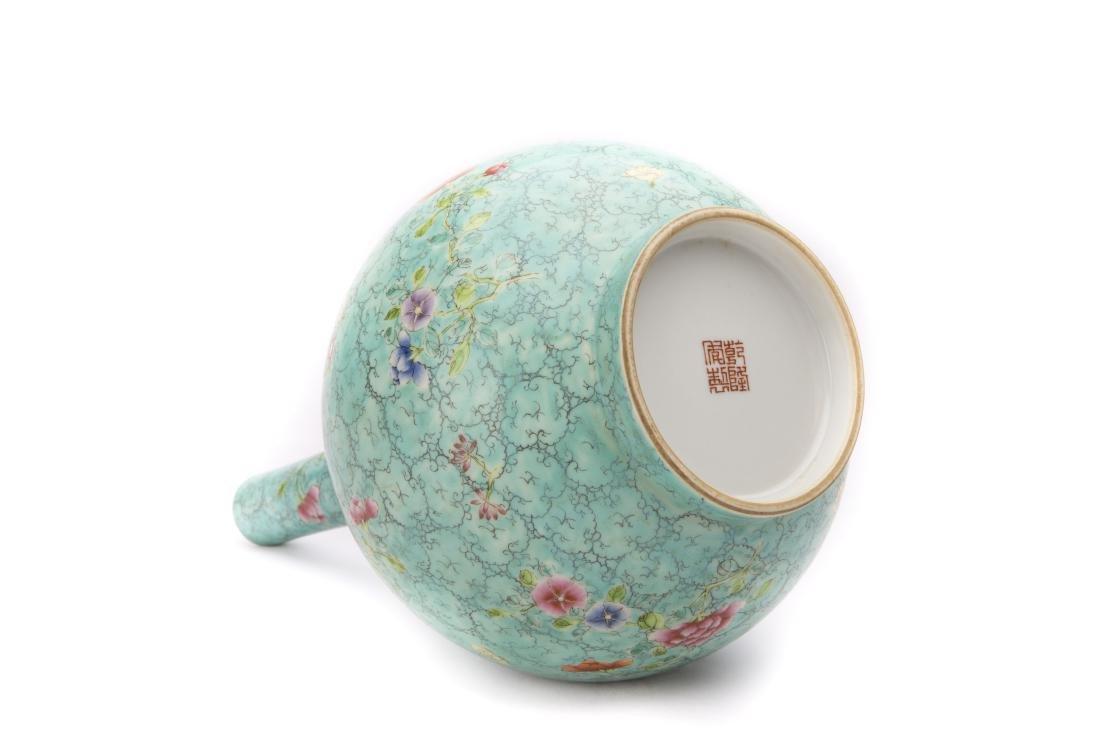 A Chinese Green Glazed Porcelain Ball Vase - 2