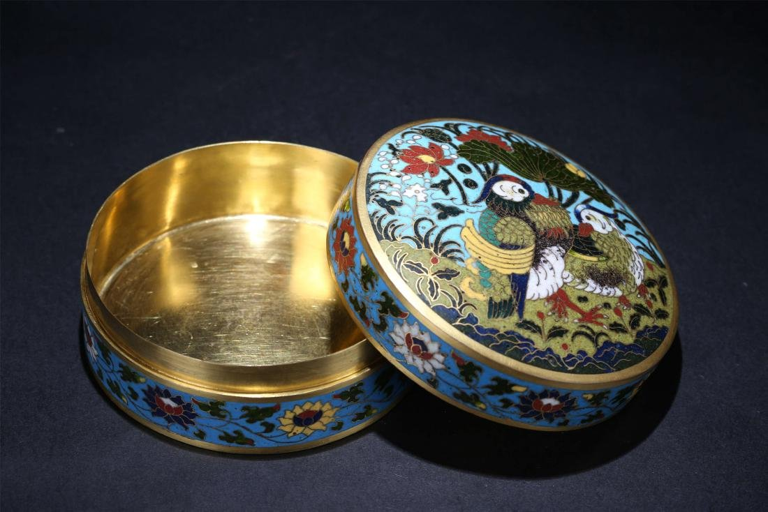 A Chinese Cloisonné Box With Cover - 4