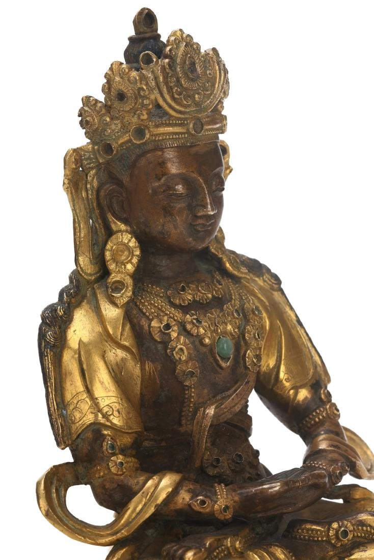 A Chinese Gilt Bronze Buddha - 5