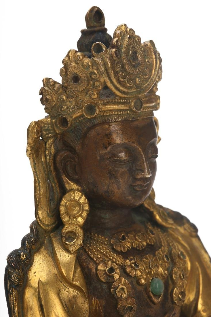 A Chinese Gilt Bronze Buddha - 6