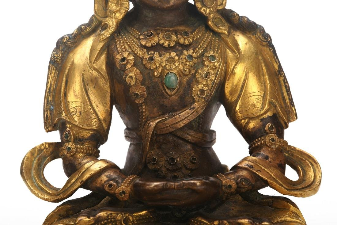 A Chinese Gilt Bronze Buddha - 7