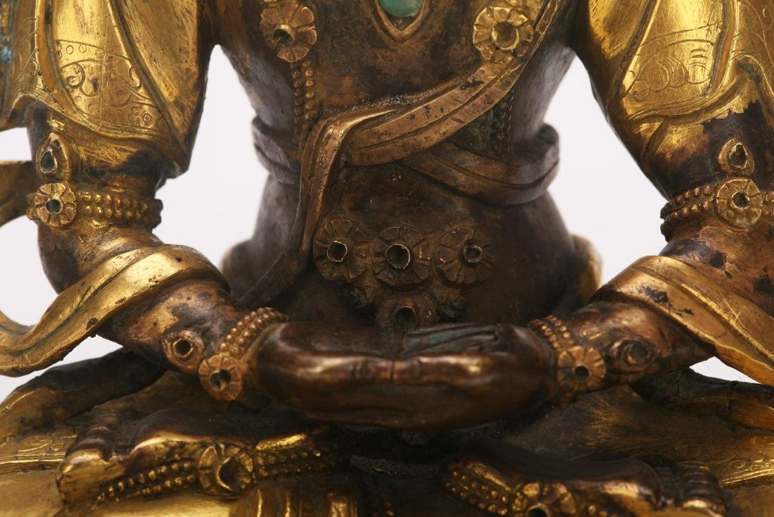 A Chinese Gilt Bronze Buddha - 9