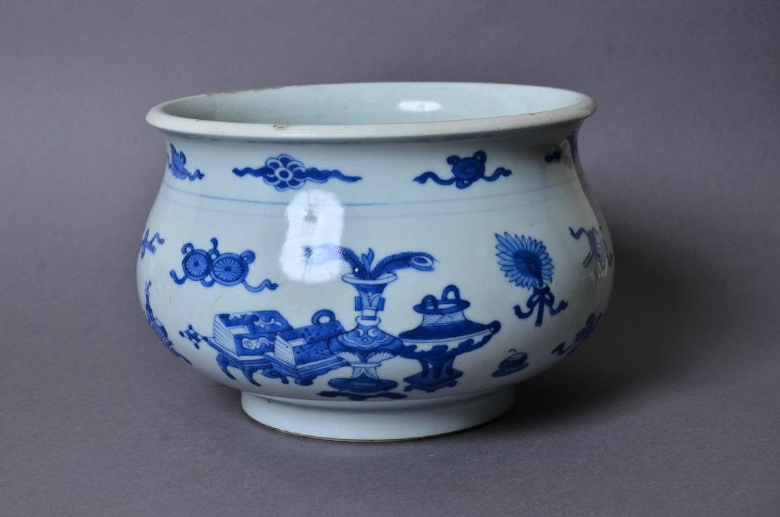 A Chinese Blue and White Porcelain Incense Burner