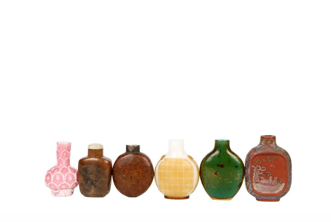 A Set of Six Snuff Bottles