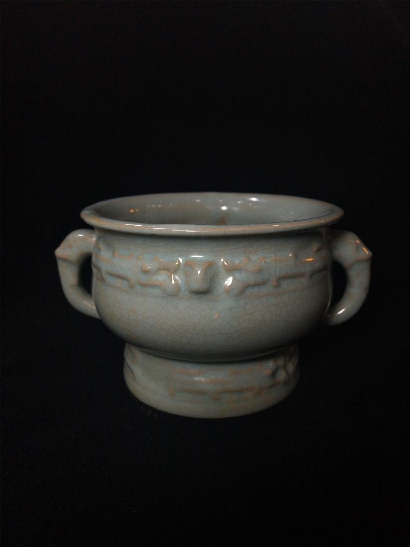 A Chinese Ru-Type Porcelain Incense Burner