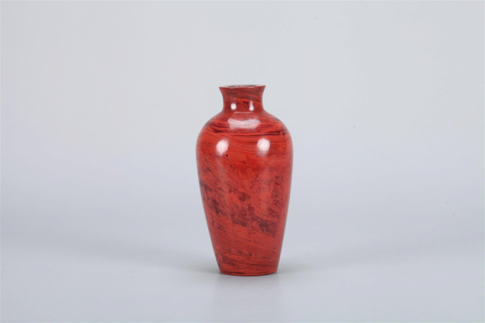A Chinese Red Peking Glass Snuff Bottle