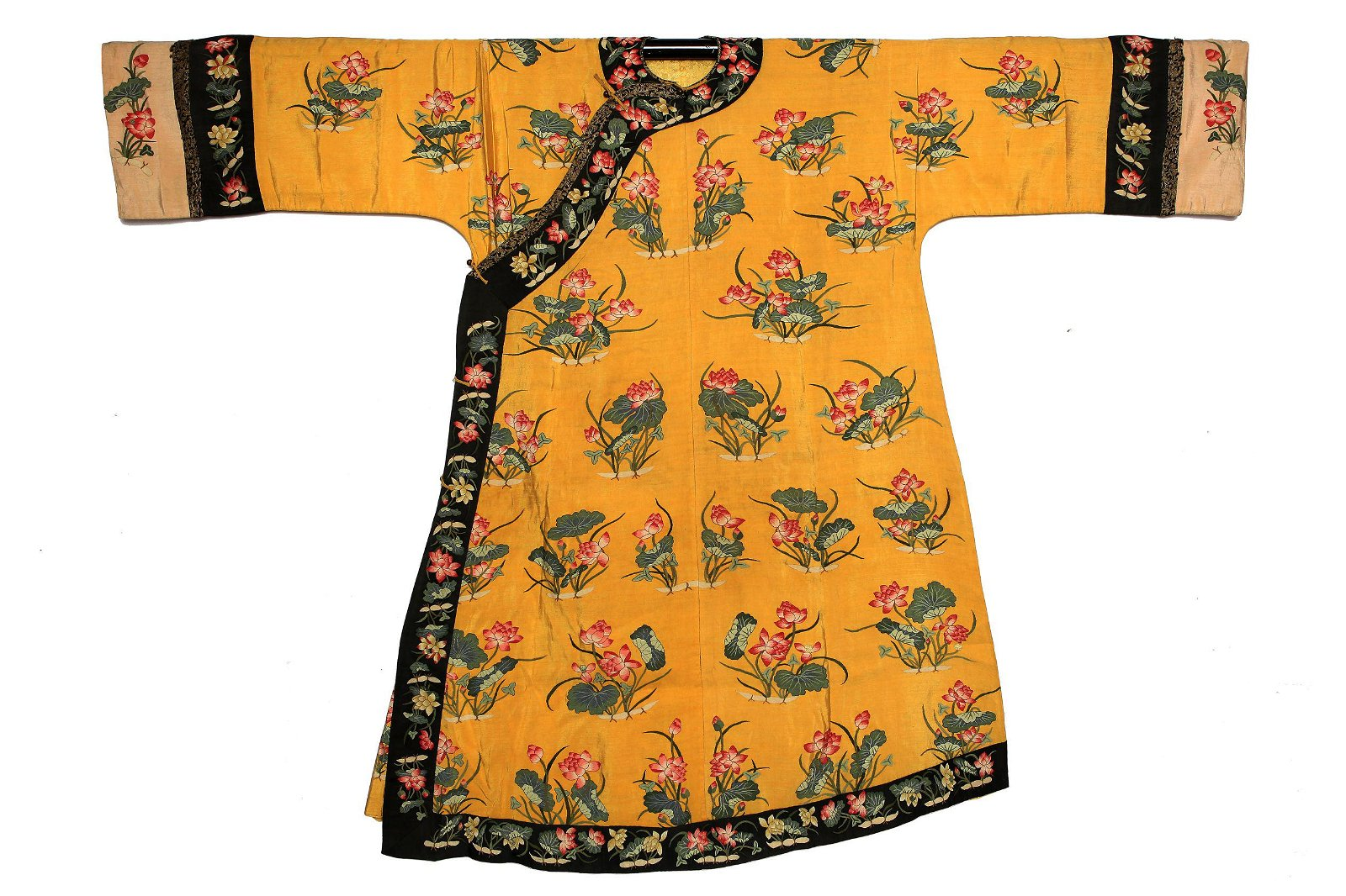 A Chinese Yellow Ground Embroidery Robe