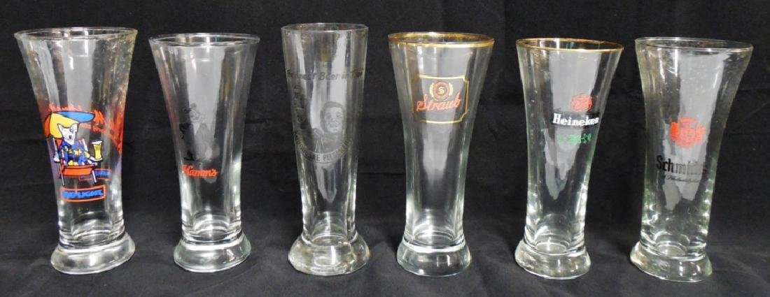 Lot of 6 assorted Beer Glasses