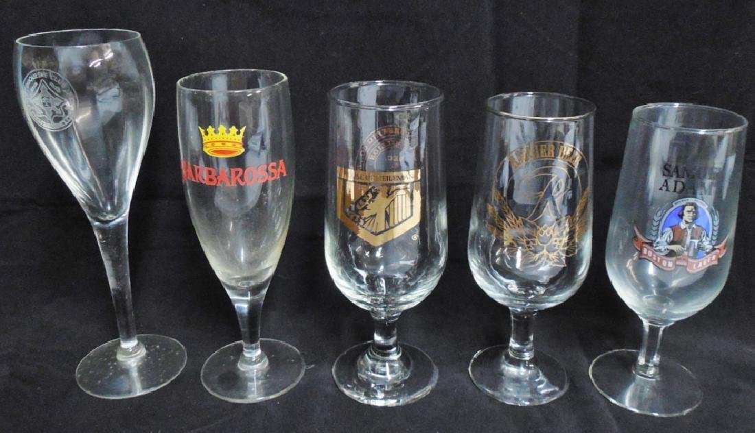 Lot of 5 assorted Beer Glasses
