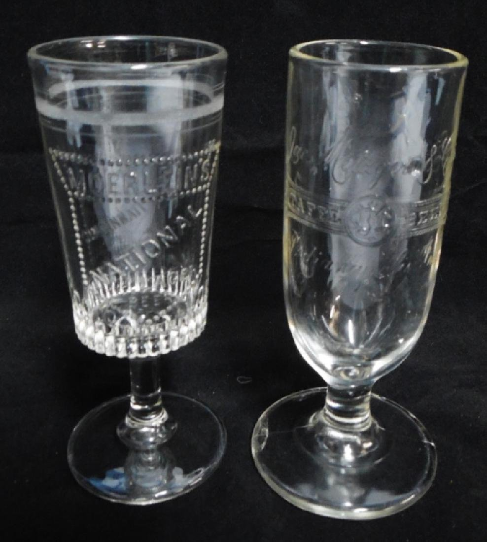 Lot of 2 Beer Glasses with Stems