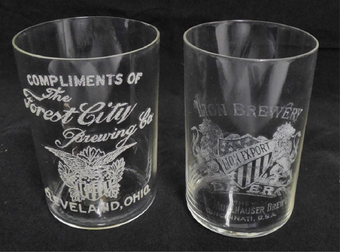 Lot of 2 Beer Sampling Glasses