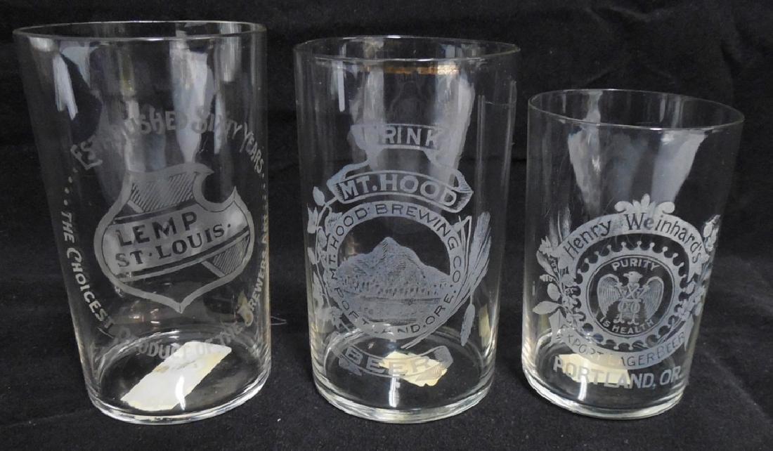 Lot of 3 Beer Sampling Glasses