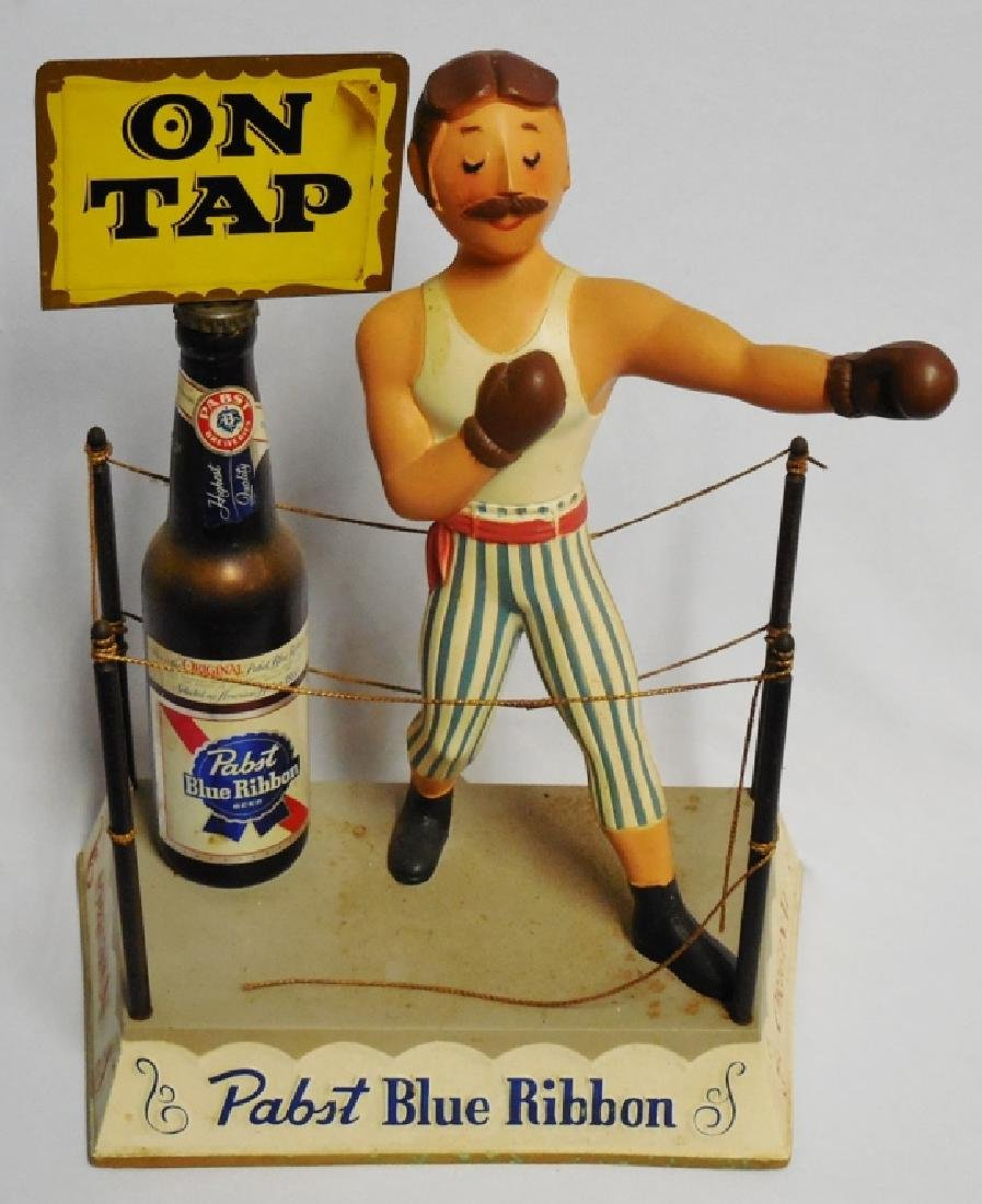 """Pabst Blue Ribbon on Tap"" Boxer Beer Display"