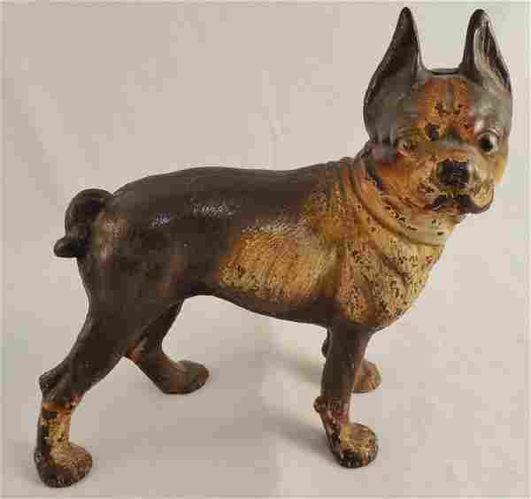 Cast Iron Dog Doorstop Boston Terrier