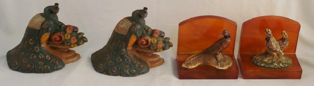Lot of 2 Cast Iron Bookends