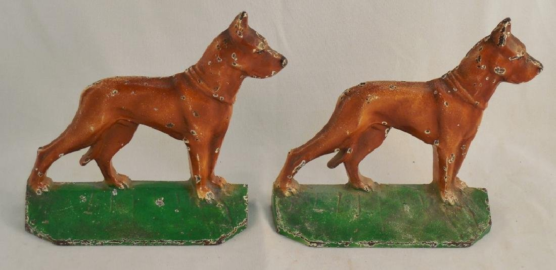 Cast Iron Bookend Dog