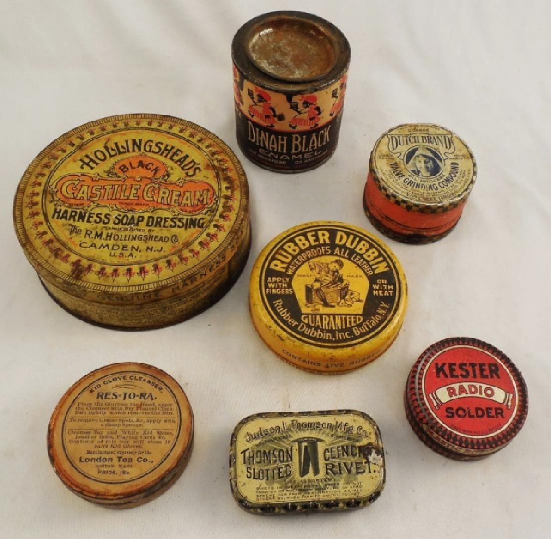 Lot of 7 Assorted Tins