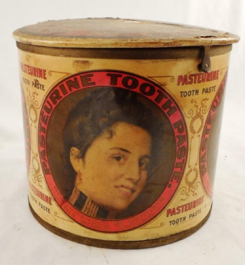 """Pasteurine Tooth Paste"" Tin with Hinged Lid"