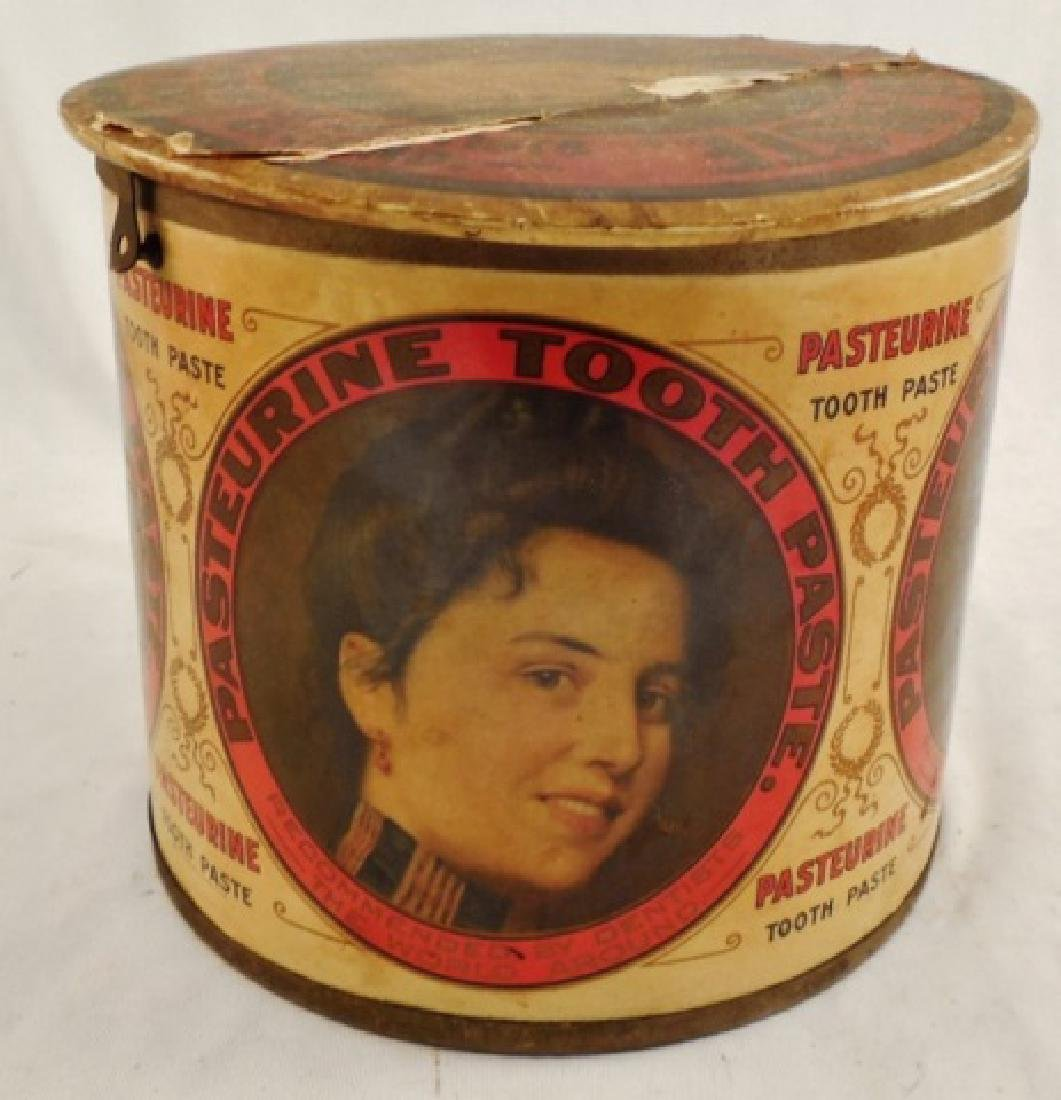 """Pasteurine Tooth Paste"" Tin with Hinged Lid - 2"