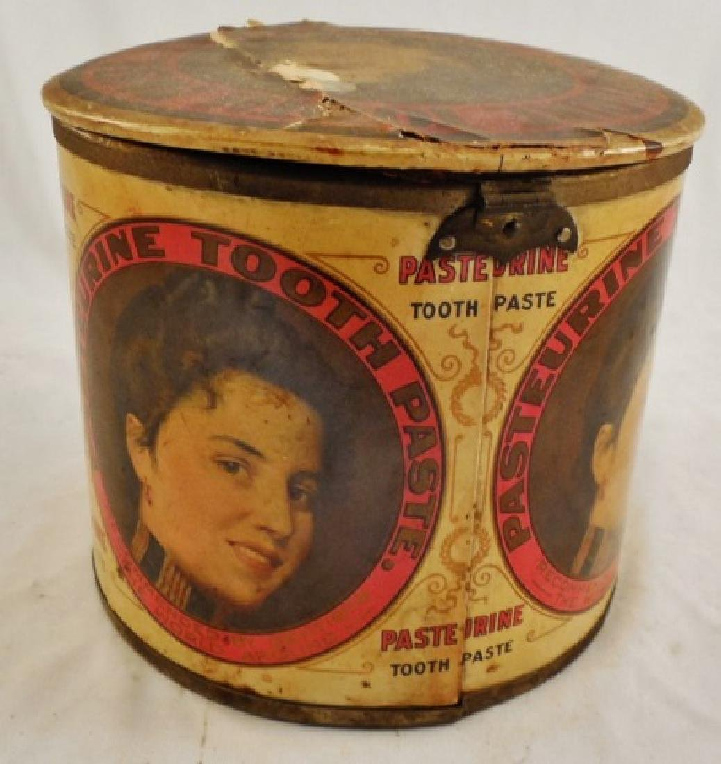 """Pasteurine Tooth Paste"" Tin with Hinged Lid - 3"