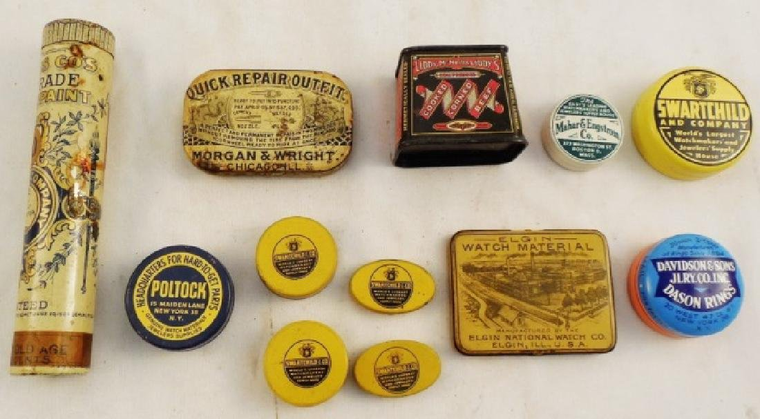 Lot of 12 Assorted Small Tins