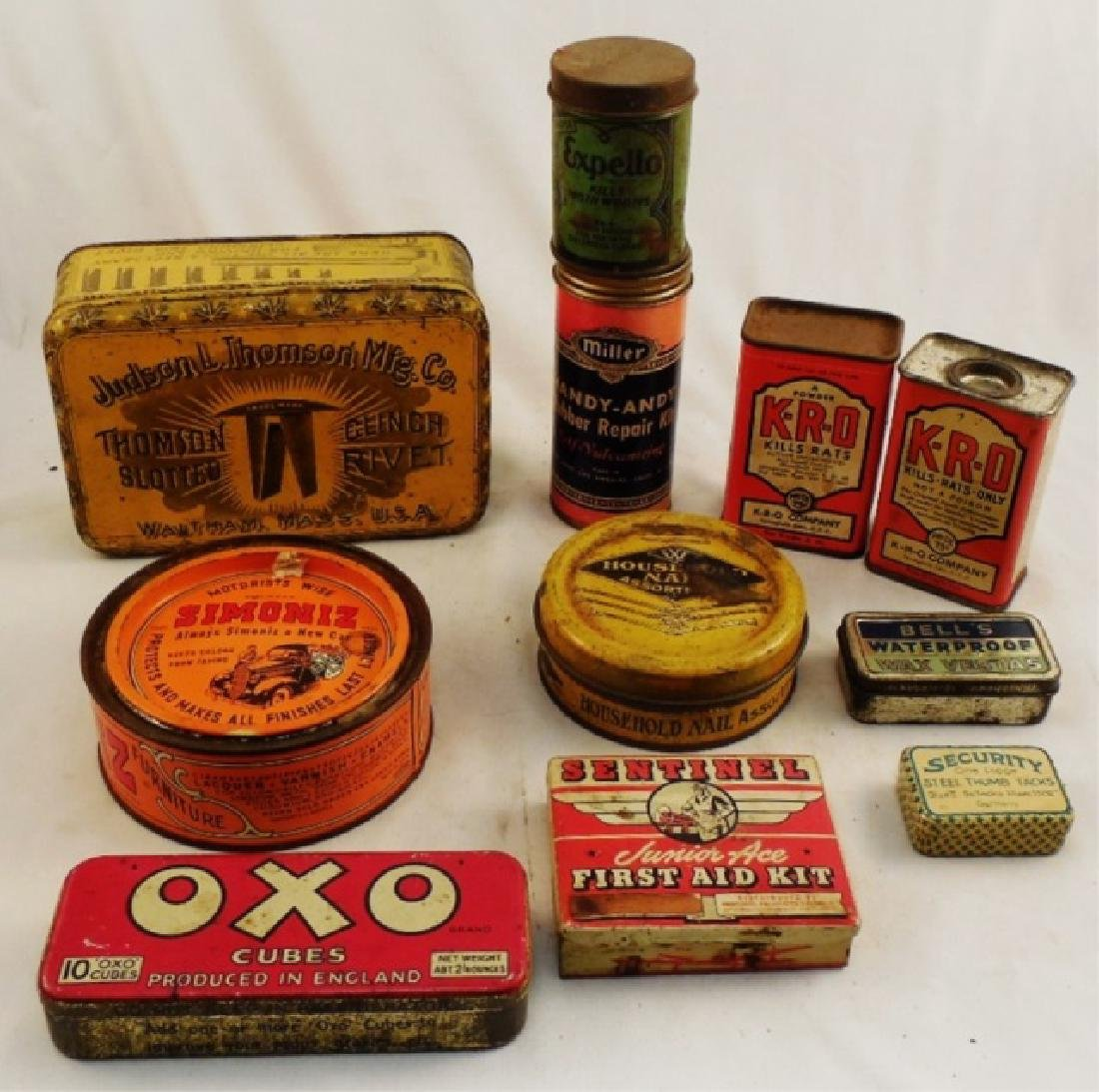 Lot of 11 Assorted Tins