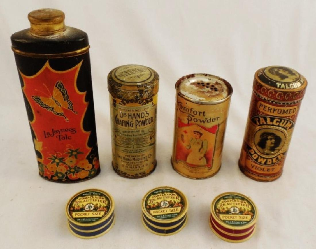 Lot of 7 Assorted Tin/Carboard Containers