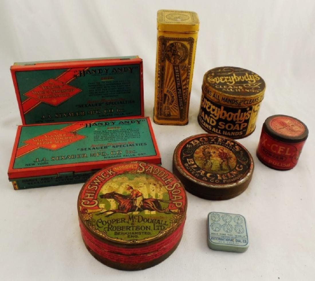 Lot of 8 Assorted Tins