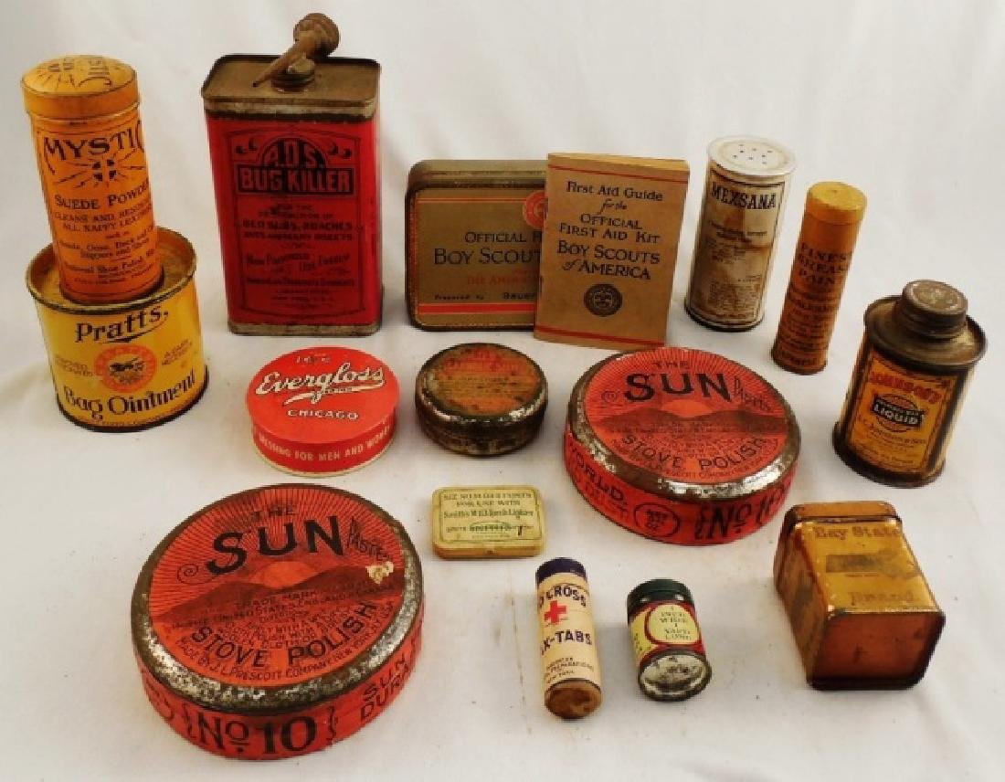 Lot of 15 Assorted Tins