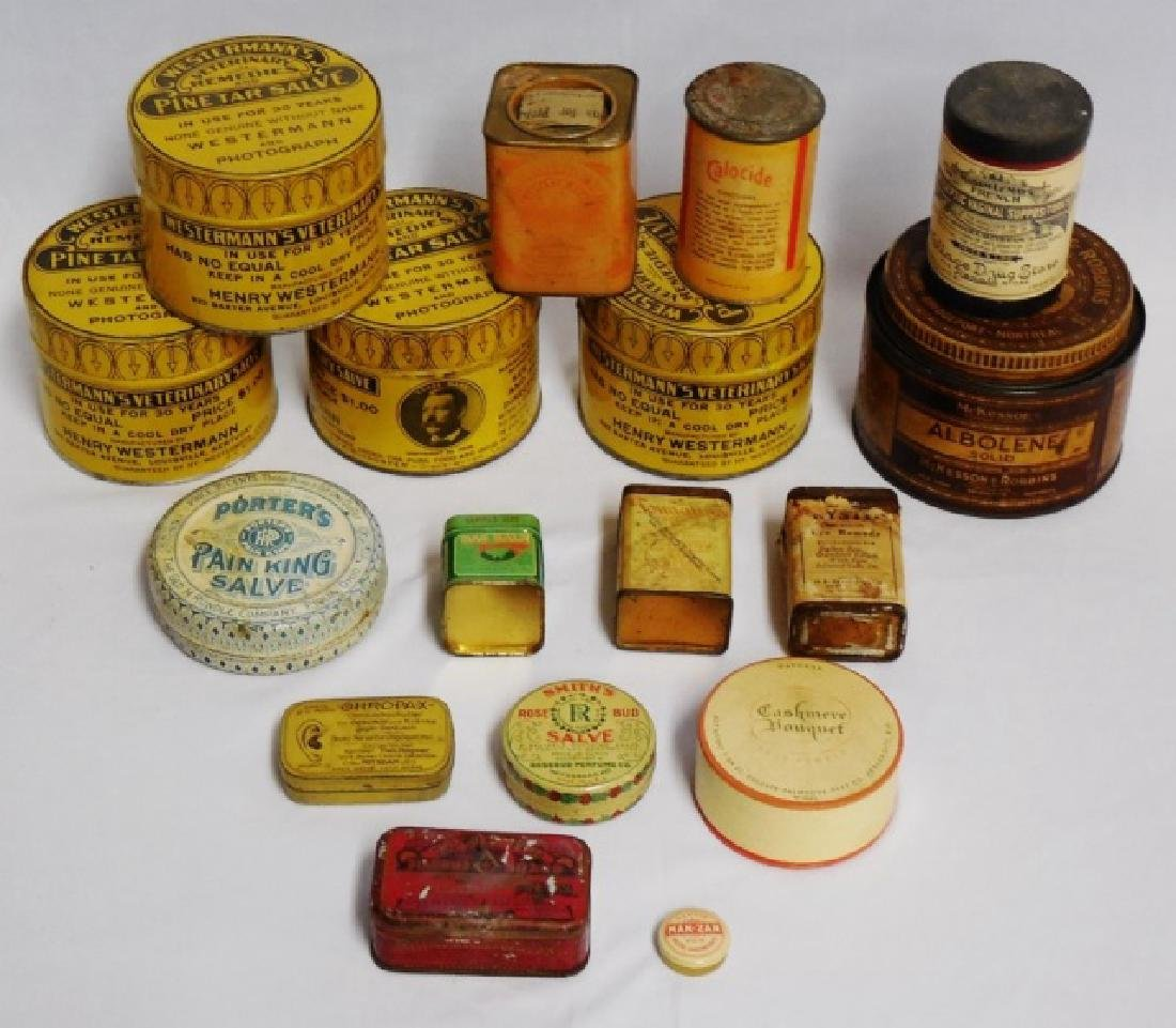 Lot of 17 Assorted Tins