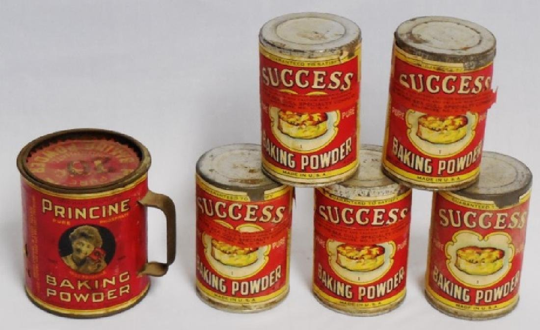 Lot of 6 Baking Powder Tins