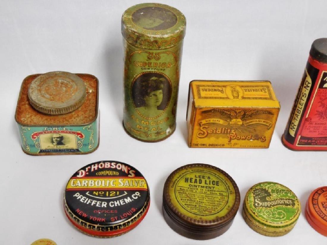 Lot of 31 Assorted Medicinal Tins - 2
