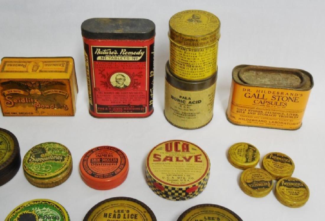 Lot of 31 Assorted Medicinal Tins - 3
