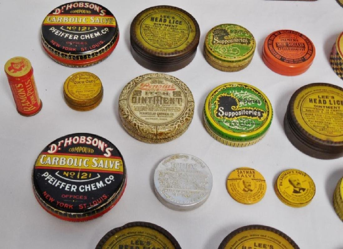 Lot of 31 Assorted Medicinal Tins - 4