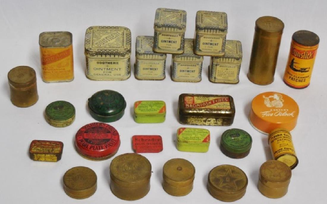 Lot of 24 Assorted Tins