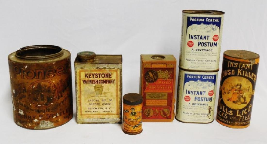Lot of 7 Assorted Tin/Cardboard Containers