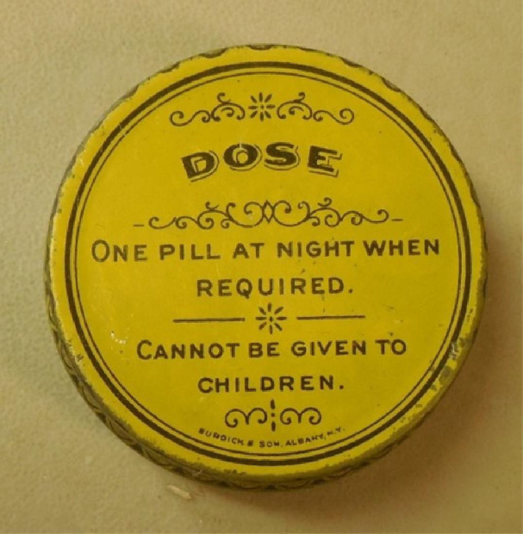 """Lot of 73 """"Dref's Liver Pills"""" Tins - 3"""