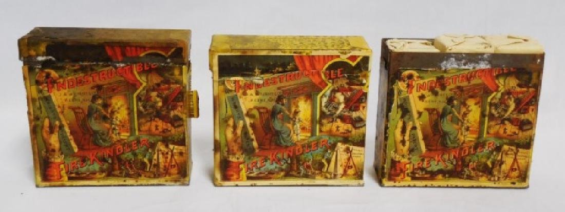 "Lot of 3 ""Indestructible Fire Kinder Tins"""