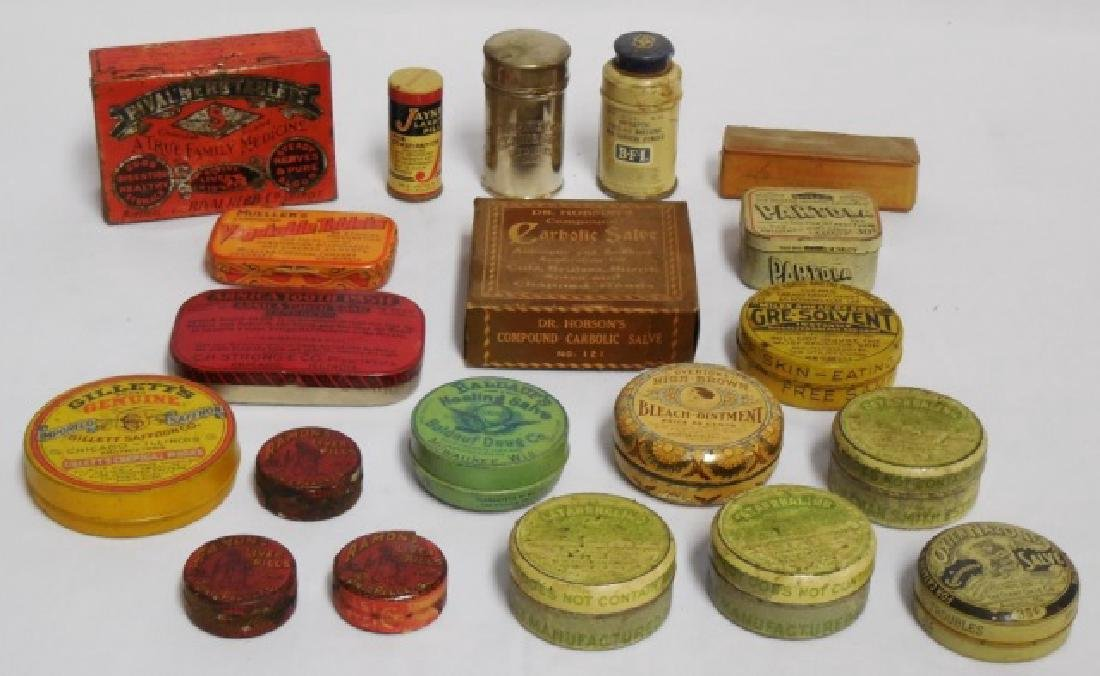 Lot of 20 Assorted Tins and Boxes