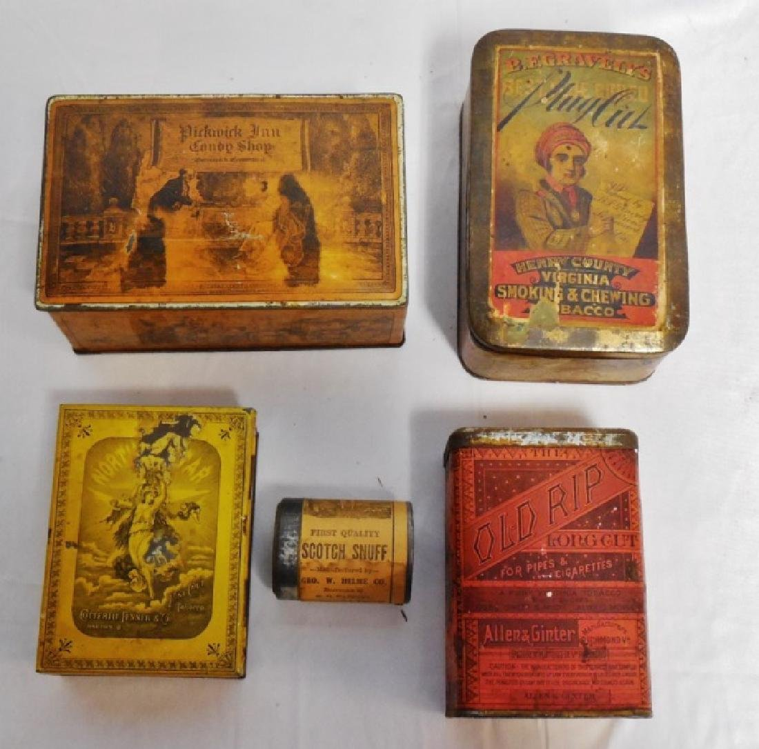 Lot of 5 Assorted Tins