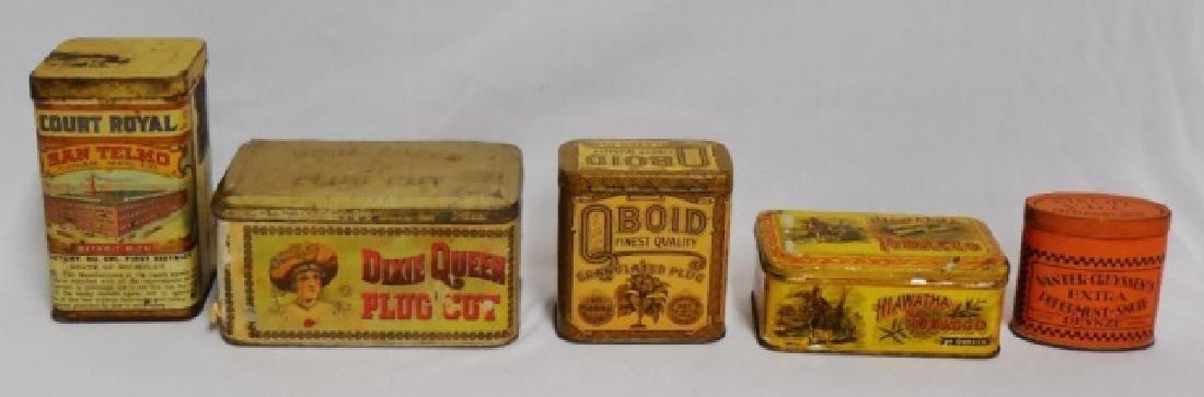 Lot of 5 Tobacco/Snuff Tins