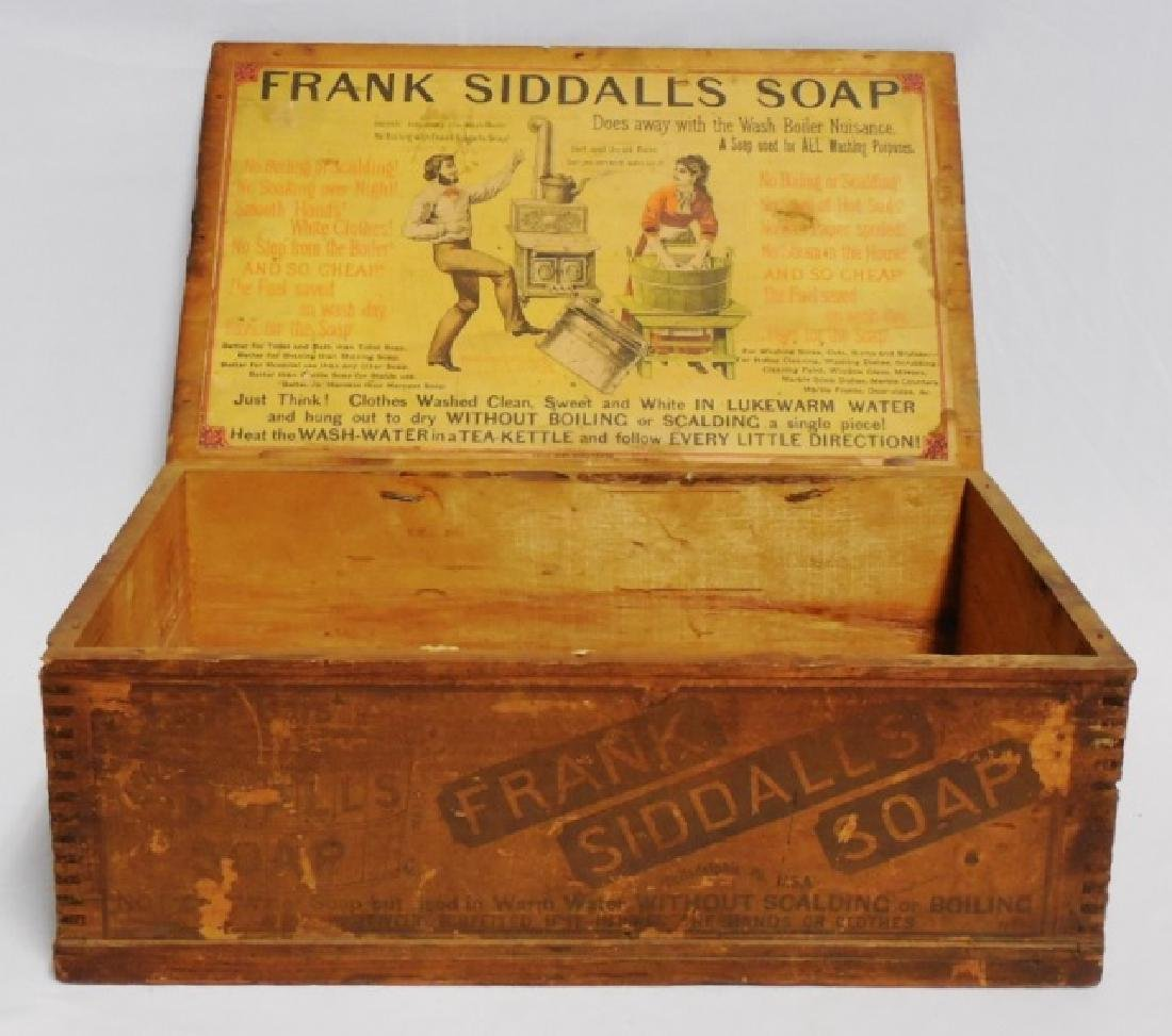 "Wooden Box ""Frank Siddalls Soap"""