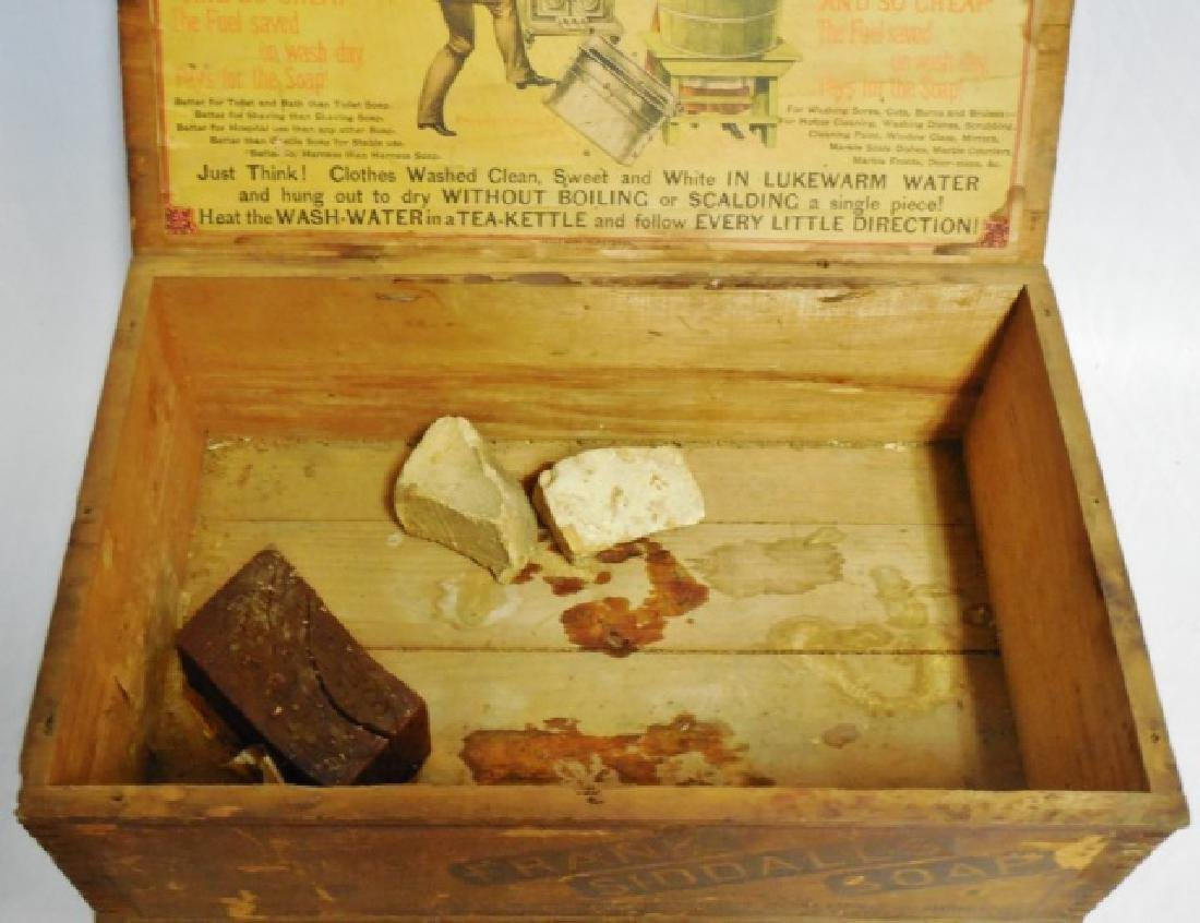 "Wooden Box ""Frank Siddalls Soap"" - 2"
