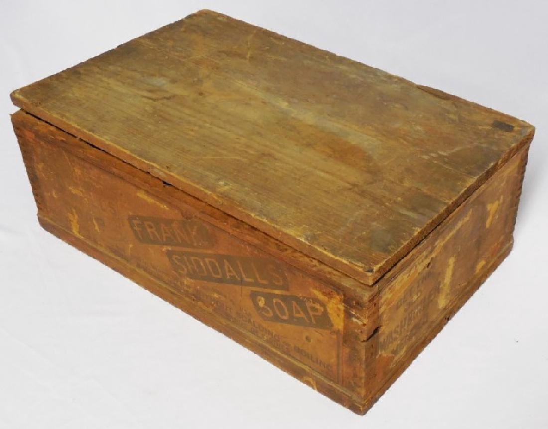 "Wooden Box ""Frank Siddalls Soap"" - 3"