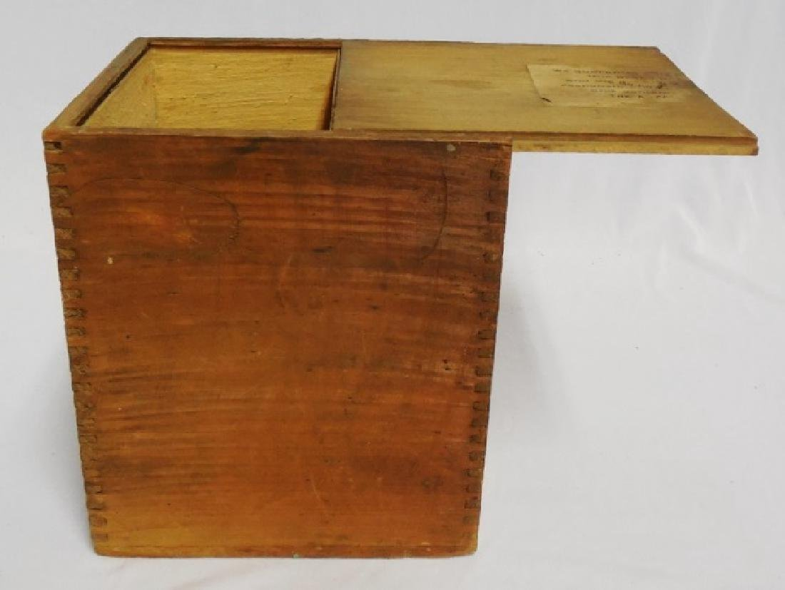 Wooden Spice Box with Slide Top Lid - 2