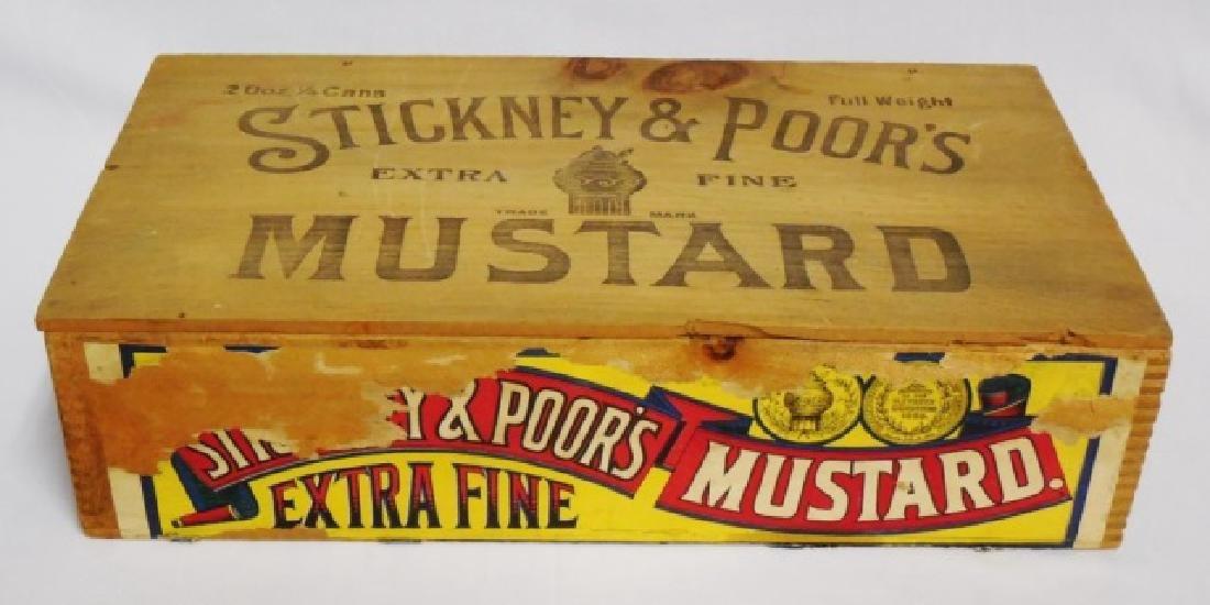 """Extra Fine Mustard"" Wooden Box"