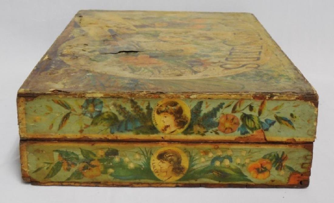 Wooden Box with Hinged Lid - 3