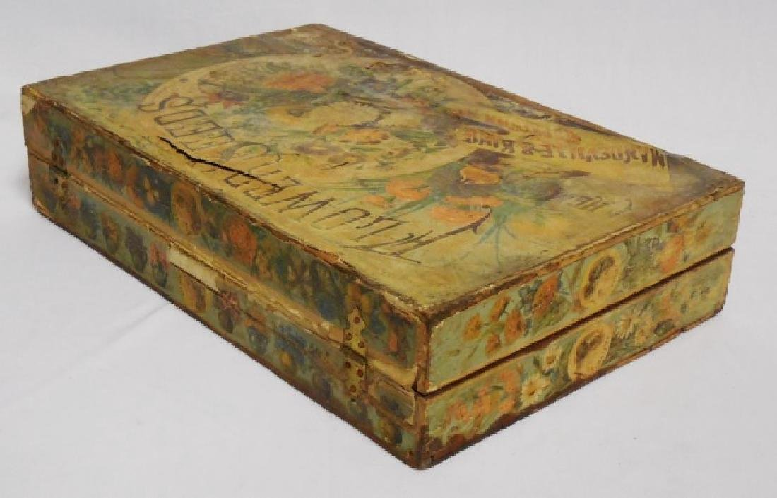 Wooden Box with Hinged Lid - 4