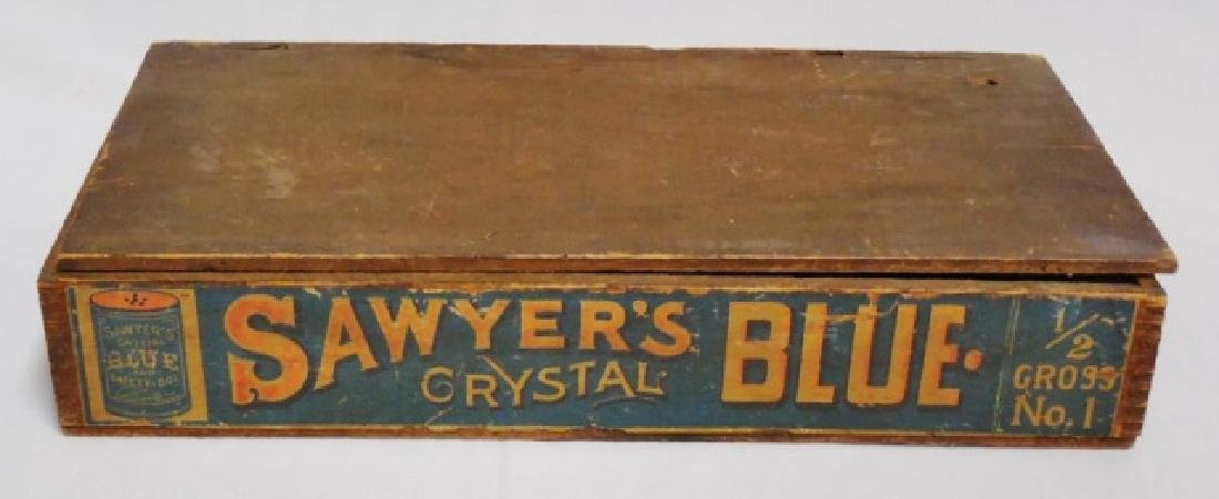 """Sawyer's Crystal Blue"" Wooden Box with Lid"